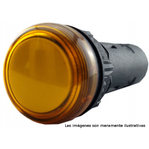 Lámpara piloto 16mm plástico