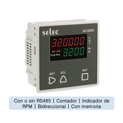 Contador 6 digitos, indicador RPM,96x96mm