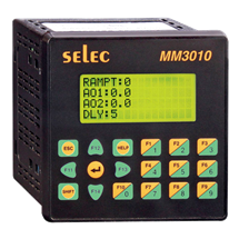 PLC, 96x96mm, pantalla LCD